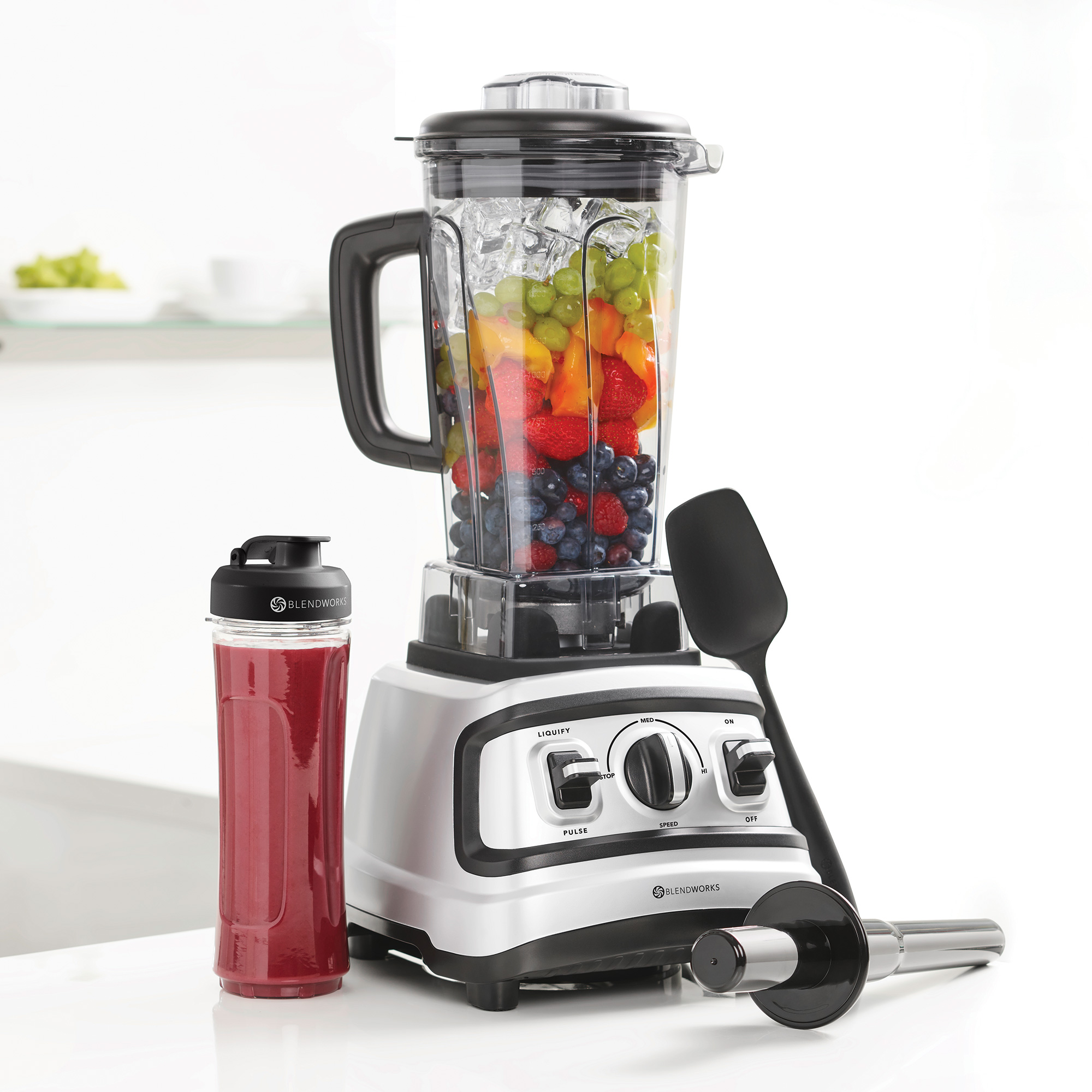 All-In-One Blender Set with Silicone Spatula, Tamper & Travel Cup